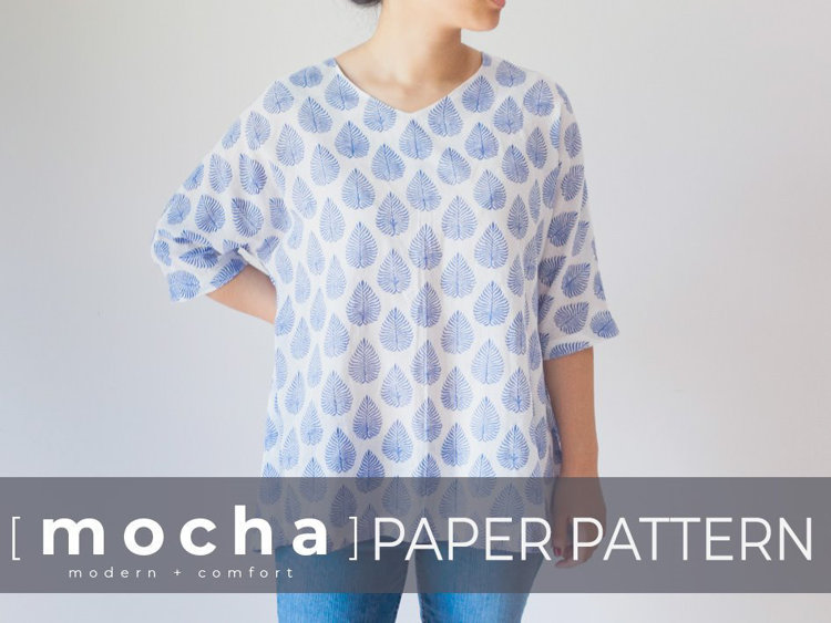 Picture of MOCHA Betsy Tunic and Dress Paper Pattern