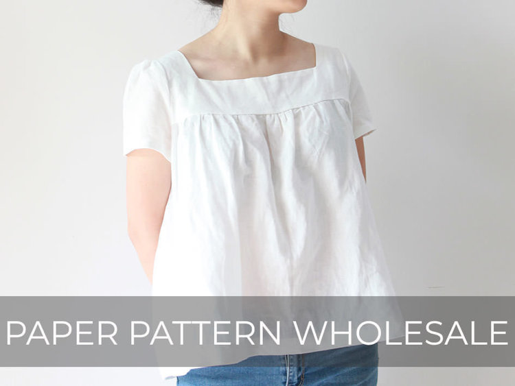 Picture of 10 MOCHA Shiloh Women's Blouse Paper Pattern (#3134_3099) - 25% Off!