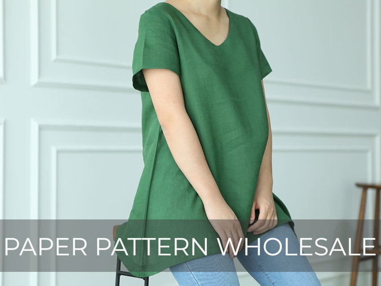 Picture of 10 MOCHA 2 Styles Muriel Tunic and Dress Paper Pattern (#3136_3101) - 25% Off!