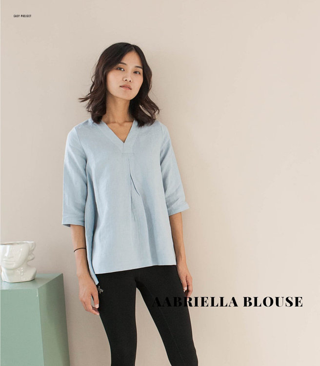 """Picture of MOCHA Aabriella Blouse PDF Pattern  - 4 Kinds of Paper(A4, US Letter, A0, 36""""x48"""")"""
