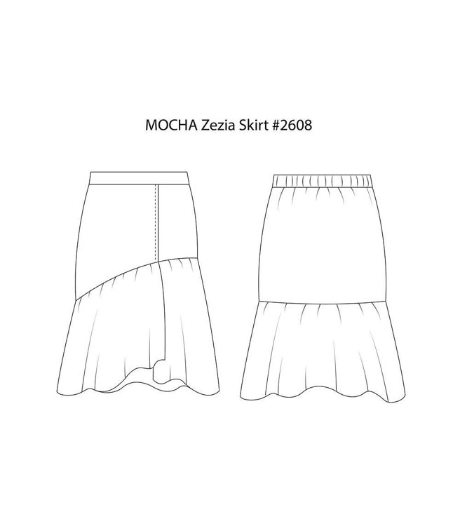 """Picture of MOCHA Zezia Skirt PDF Pattern - 4 Kinds of Paper(A4, US Letter, A0, 36""""x48"""")"""