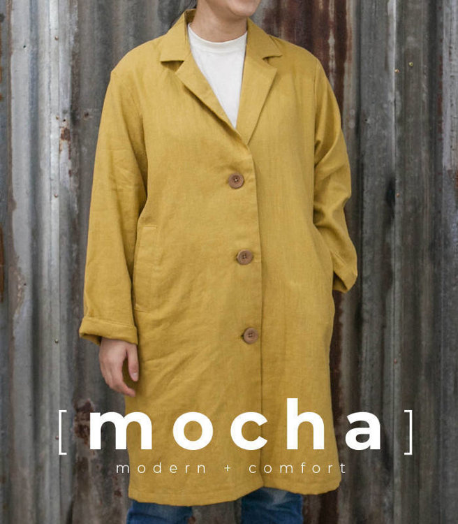 """Picture of MOCHA Tailored Collar Coat PDF Pattern - 4 Kinds of Paper(A4, US Letter, A0, 36""""x48"""")"""