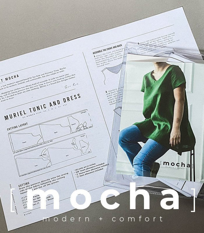 Picture of MOCHA Basic A-Line Tunic Paper Pattern