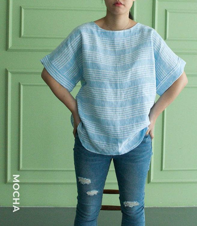 Picture of 10 MOCHA Joy Blouse Paper Pattern (#3139_3109) - 25% Off!