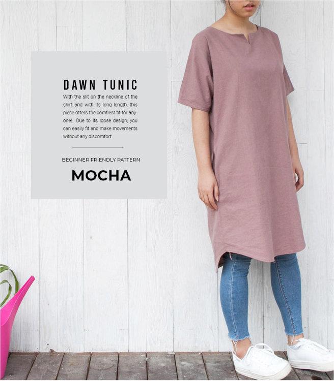 Picture of MOCHA Dawn Tunic Paper Pattern