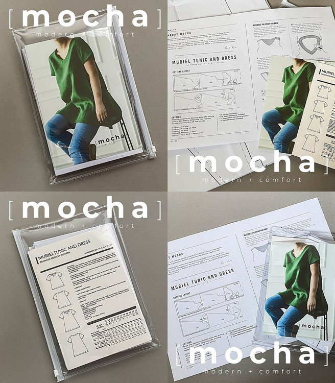 Picture of 10 MOCHA Patsy Blouse Paper Pattern (#3184_3152) - 25% Off!