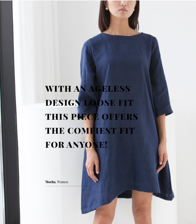 Picture of 10 MOCHA Leticia Tunic Dress Paper Pattern (#3190_3177) - 25% Off!