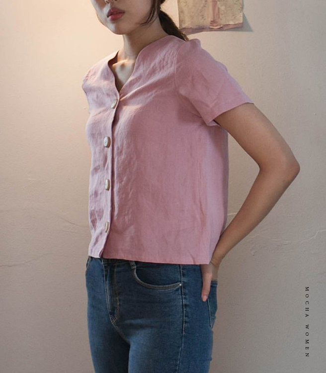 Picture of 10 MOCHA Blanca Blouse Paper Pattern (#3191_3178) - 25% Off!