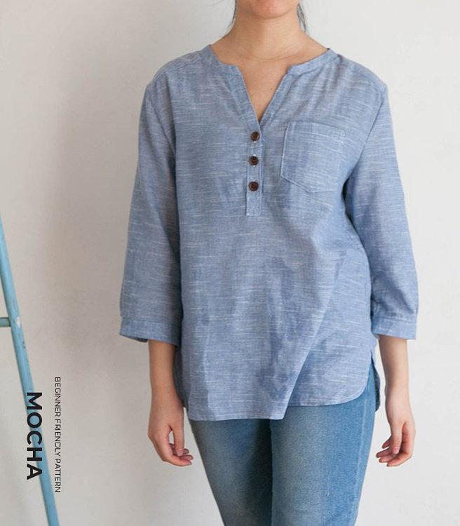 Picture of MOCHA Emma Shirt Paper Pattern