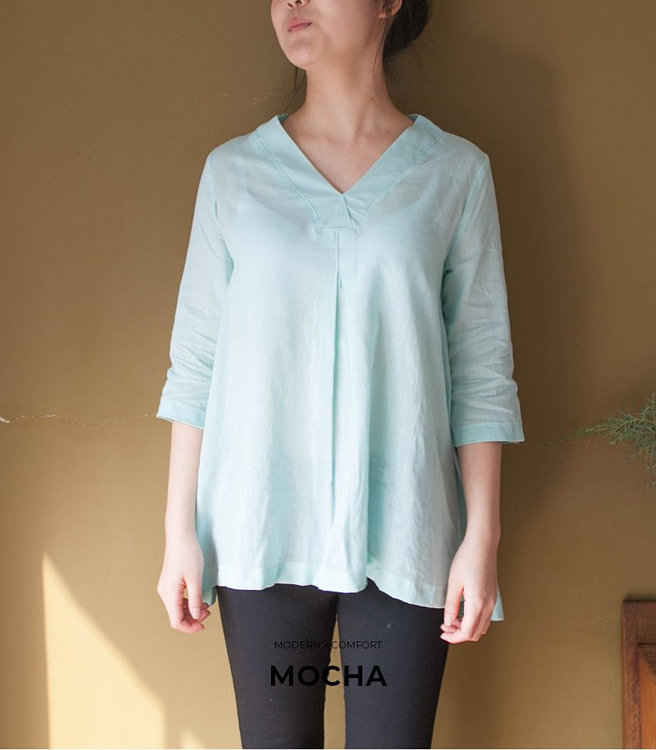Picture of MOCHA Aabriella Blouse Paper Pattern