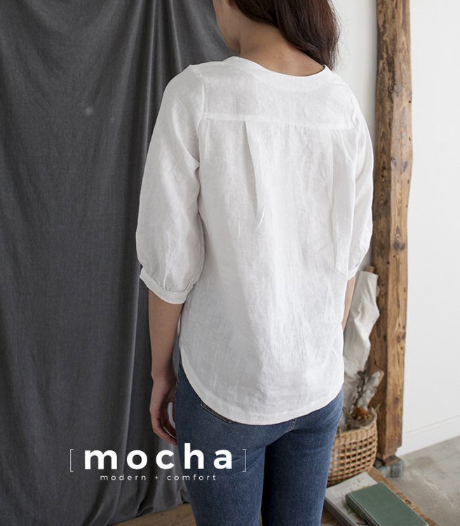 Picture of MOCHA Lillie Blouse Paper Pattern (3293_3168)