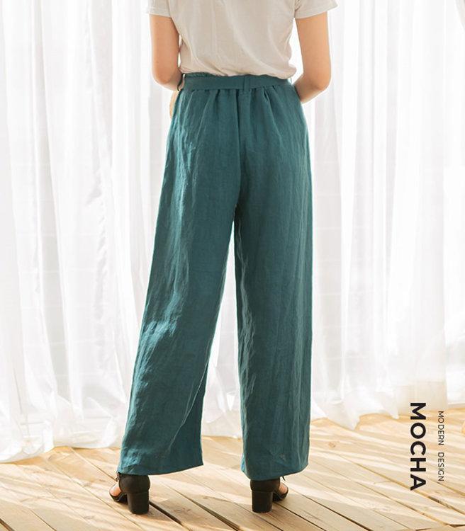 Picture of MOCHA Willa Ribbon Belt Wide Pants Paper Pattern (3294_3289)