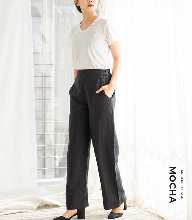 """Picture of MOCHA Rio Wide Pants Pdf Pattern (3301) - 4 Kinds of Paper(A4, US Letter, A0, 36""""x48"""")"""