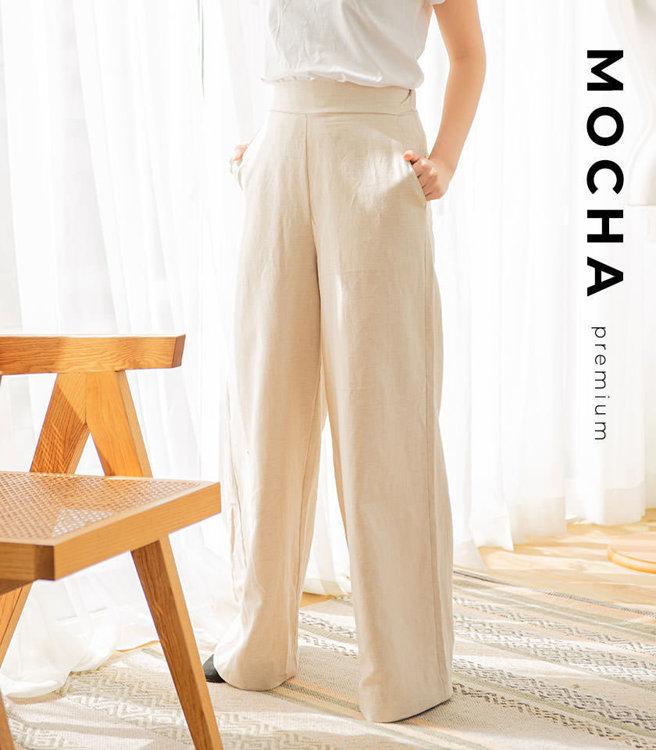 MOCHA Winslet Wide Pleats Pants