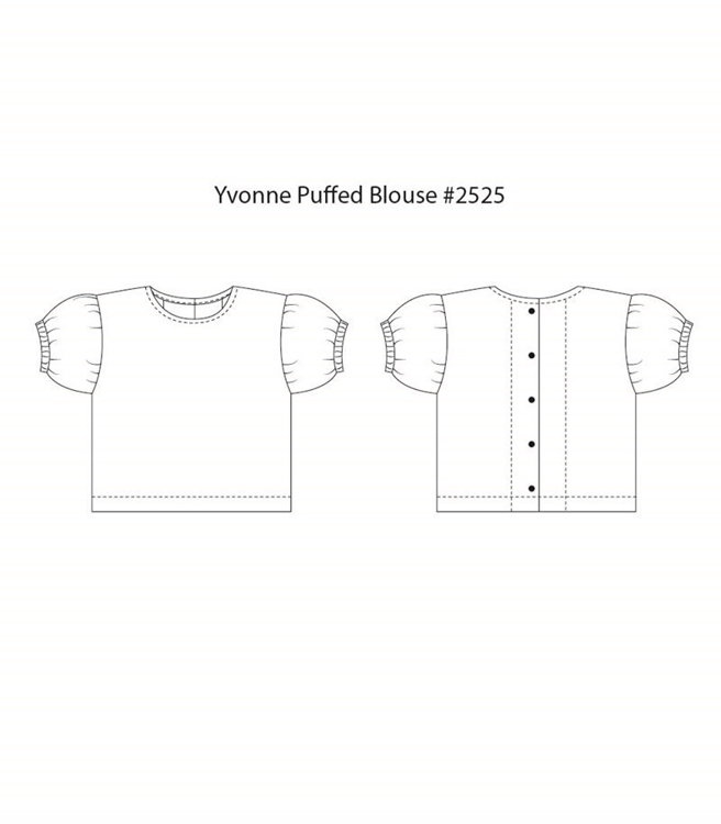 Picture of (3Y- 10Y) Yvonne Puffed Blouse PDF Pattern
