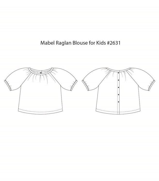 Picture of (3Y-10Y) Mabel Raglan Blouse for Kids PDF Pattern