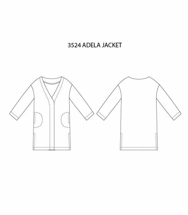 """Picture of MOCHA Adela Summer Jacket (Size 2-22) PDF Pattern - 4 Kinds of Paper(A4, US Letter, A0, 36""""x48"""")"""