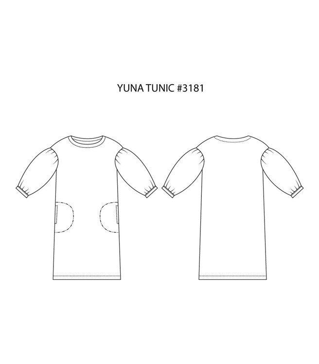 """Picture of MOCHA Yuna Tunic Dress PDF Pattern - 4 Kinds of Paper(A4, US Letter, A0, 36""""x48"""")"""