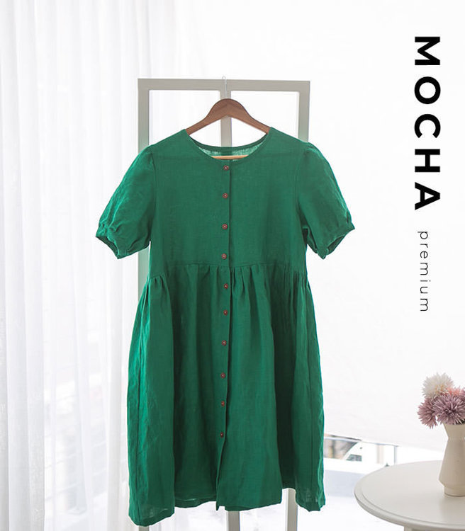 """Picture of MOCHA Emile Button Up Dress - Premium Members Only  - 4 Kinds of Paper(A4, US Letter, A0, 36""""x48"""")"""